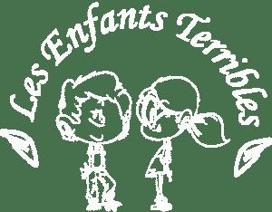 logo de la boutique des Enfants Terribles en blanc